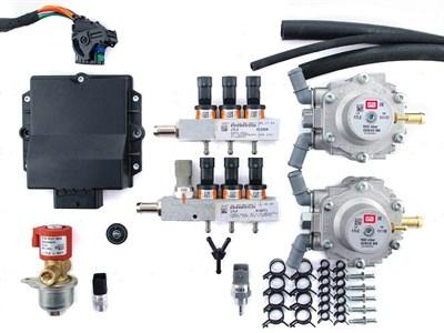 Комплект BRC P&D 6 цил. G-МВ  (от 160 до 190 л.с.) + баллон 80 л (цилиндр) - фото 4749