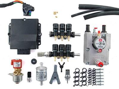 Комплект BRC PLUG&DRIVE 6 цил. (от 190 до 240 л.с.) + баллон 63 л (в запаску) - фото 4905
