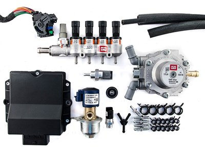 Комплект BRC MAX  (до 160 л.с.) + 2 баллона по 35 л (цилиндр) - фото 5688